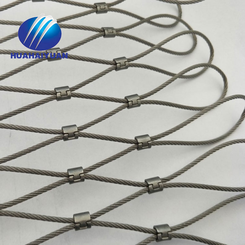 rope mesh factory offer 304 stainless steel cable wire rope netting zoo mesh