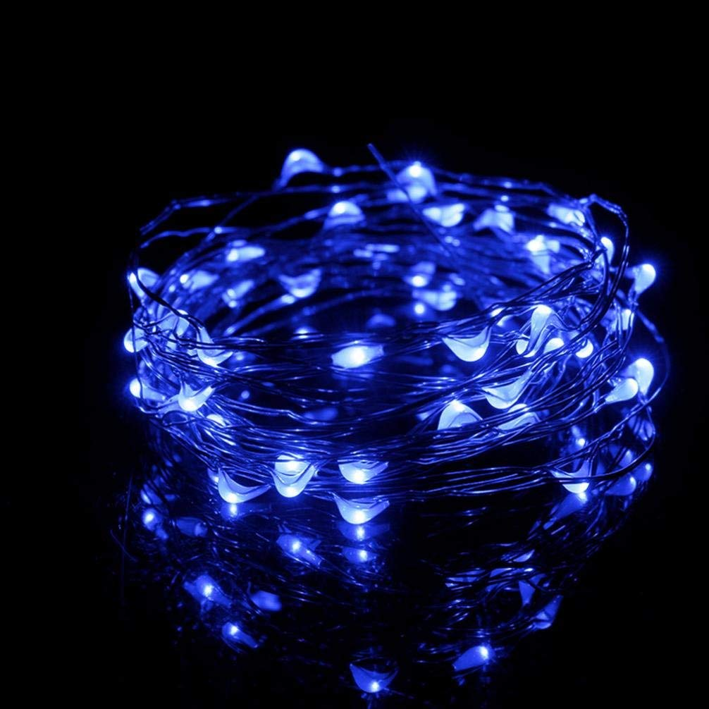Rumas Fashion 5M 50 Led USB connector String Fairy Lights Garland Copper Wire (Blue)