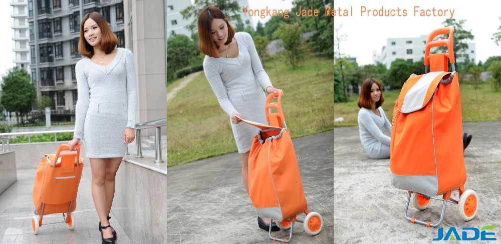 First grade customized folding shopping trolley for elderly/luggage trolley for elderly with low price