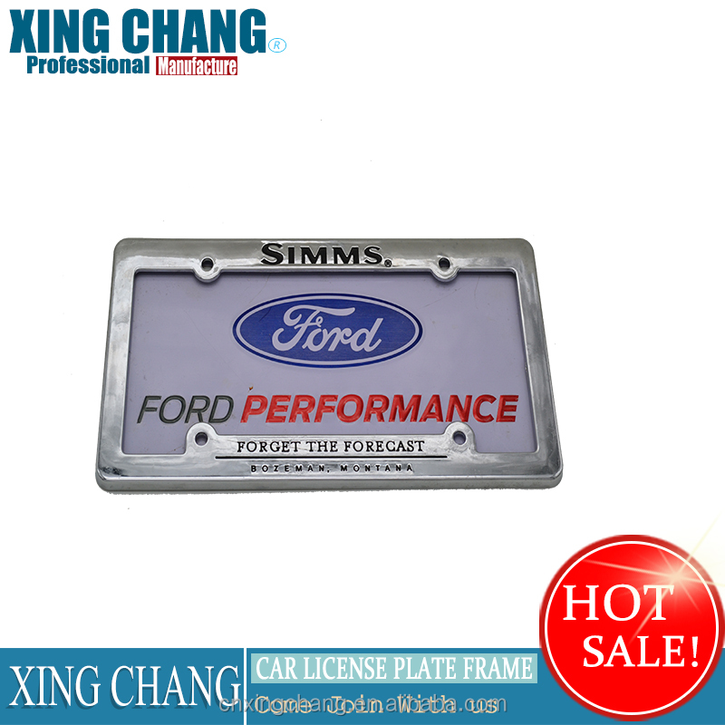 Super Process Zinc Alloy cars License Plate Frames