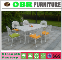 2017HOT SALE Europe Style White Cast Aluminum Furniture Leisure Table and Chair set