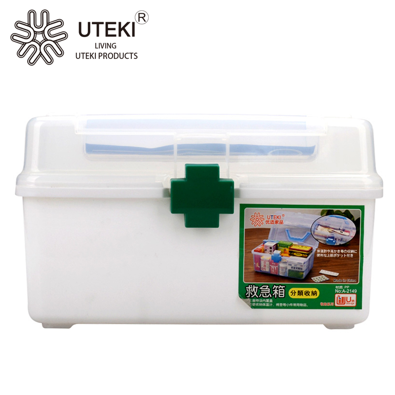 New Design Plastic Medicine Chest With Lid and Handle