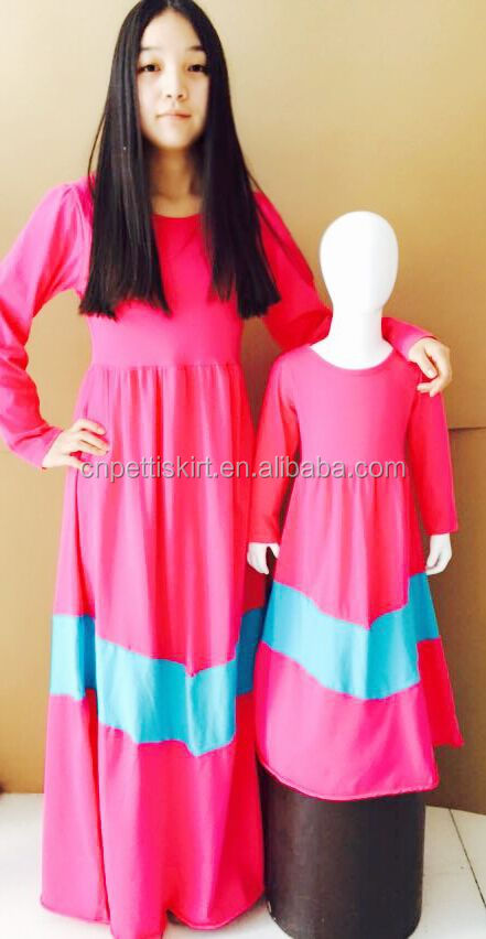 50106fff03e0b 2016 new design rose red koya factory made long sleeve mom love me fashion  baby girls long dress and mother and child maxi dress