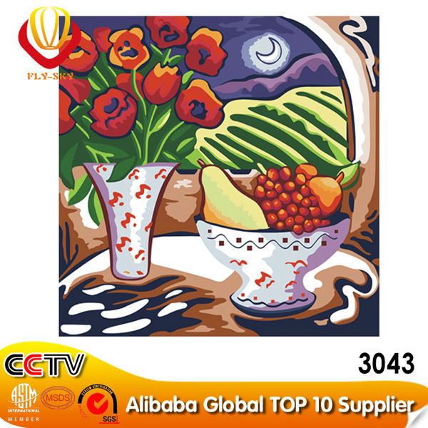 2015 Factory wholesale Chinese fruit digital oil painting (40*50cm)