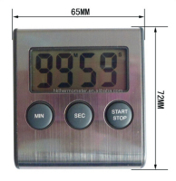 Digital Timer 99M 59S Stainless Steel Kitchen Timer CE Timer