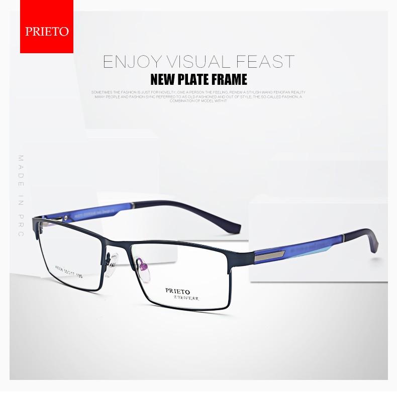 Prieto Eyewear Borde Completo Gafas De Metal Marcos Con Estilo ...