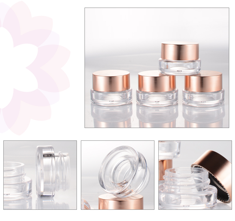 makeup round clear eyeshadow container cosmetic plastic jar for sale
