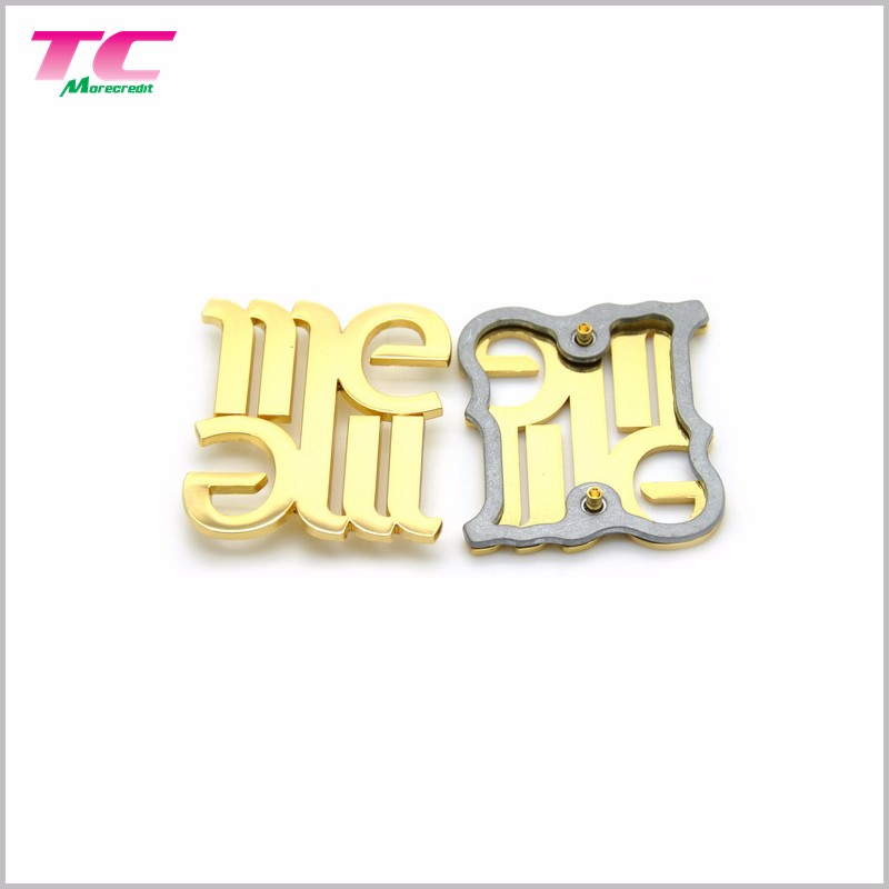 Alibaba Top Activity Supplier Metal Logo For Bags Luggage Clothing Custom Logo Metal Plate