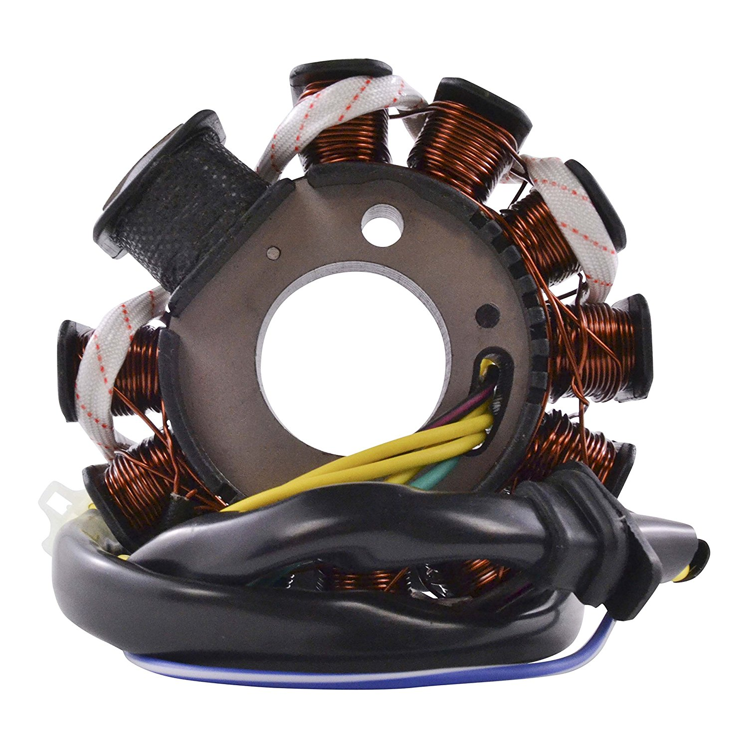 Get Quotations · Stator For Scooter Moped Go Kart GY6 125cc 150cc QMI152 QMI157 QMJ152 QMJ157 Engines