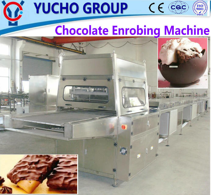China Big Factory Good Quality Small Chocolate Enrobers With 5M Cooling Tunnel
