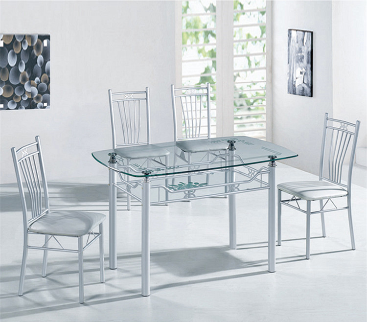 A10S Modern Glass Dining Table Set /stainless Steel Dining Room Sample Dining  Table Sets Part 71