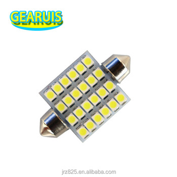 Car LED Festoon C5W 24 SMD 1210 LED 3528 36mm 39mm 41mm LED Car interior lights lamp bulb Dome light Cold White DC 12V