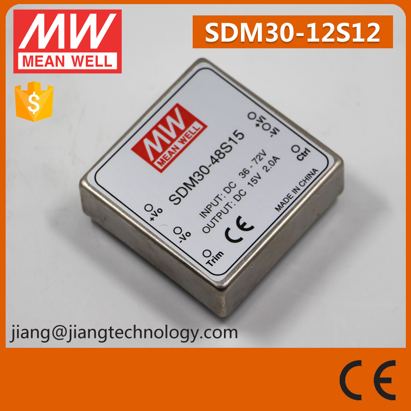 30W 12V Converter SDM30-12S12 Meanwell DC to DC Switch Power Supply