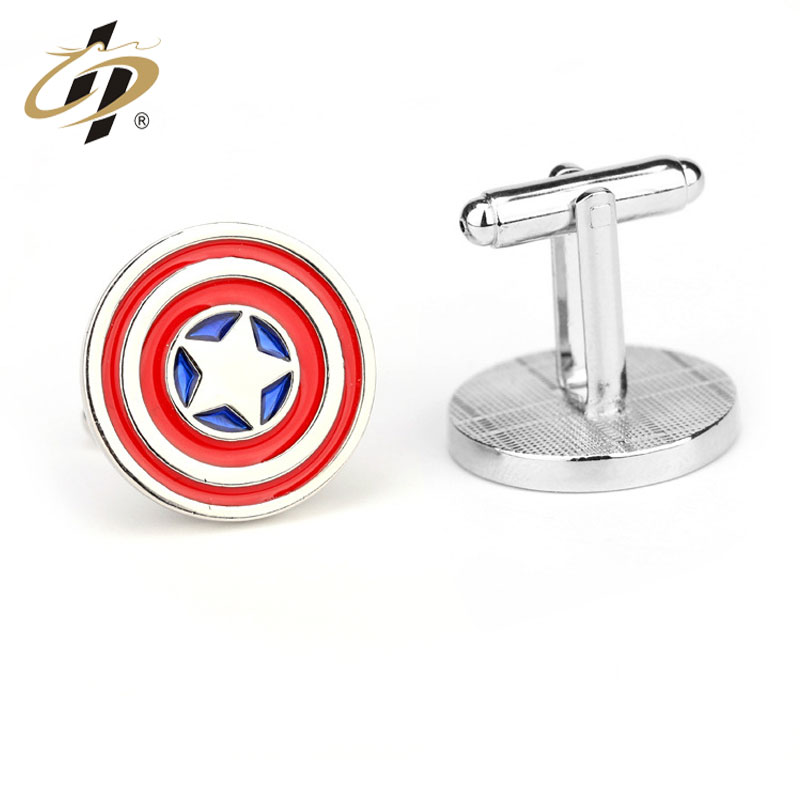 fashion metal captain America custom cufflink for wholesale