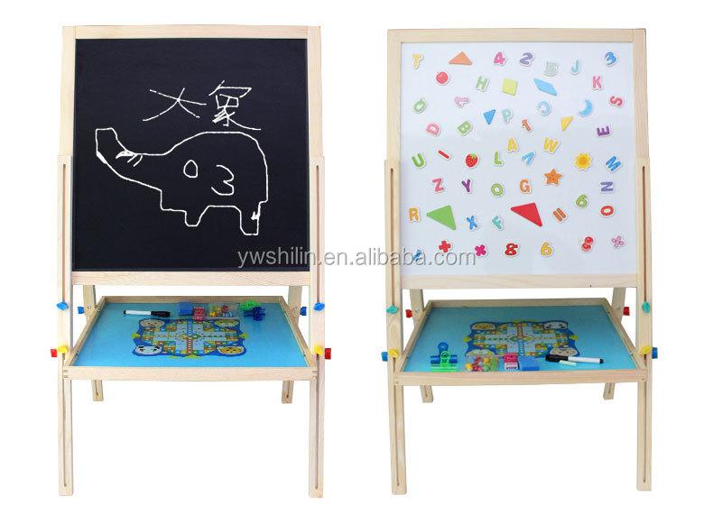Wooden Easel / Kids White Board Toy / Art Sketch Book Aquarelle ...