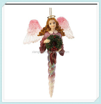 resin hanging christmas angels decorations