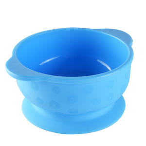 Kids Baby Toddlers Tableware Non-Stick Flexible Feeding Pinch Soft Silicone Sucker Suction Cup Bowl With Handle