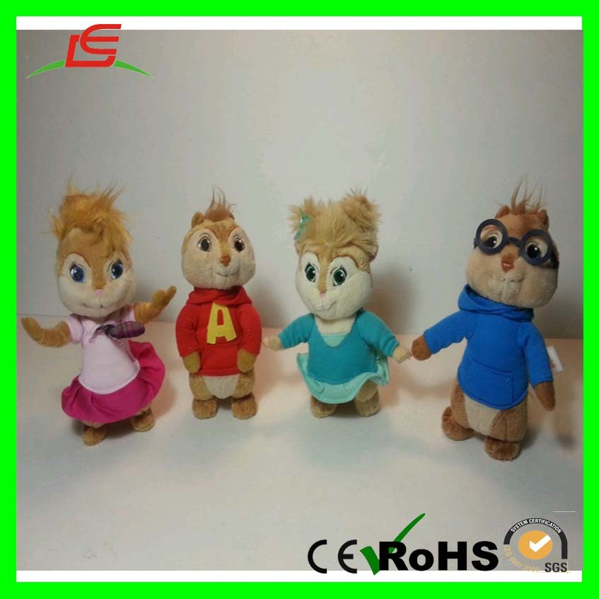 Cartoon New Set 4 Stuffed Dolls Plush Chipmunk Toy