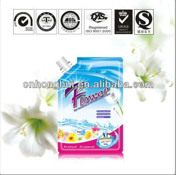 Bulk antibacterial foam booster fabric liquid laundry detergent