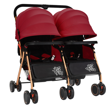 High Quality All Terrain Double stroller Twin baby carriage and toddler double buggy pram