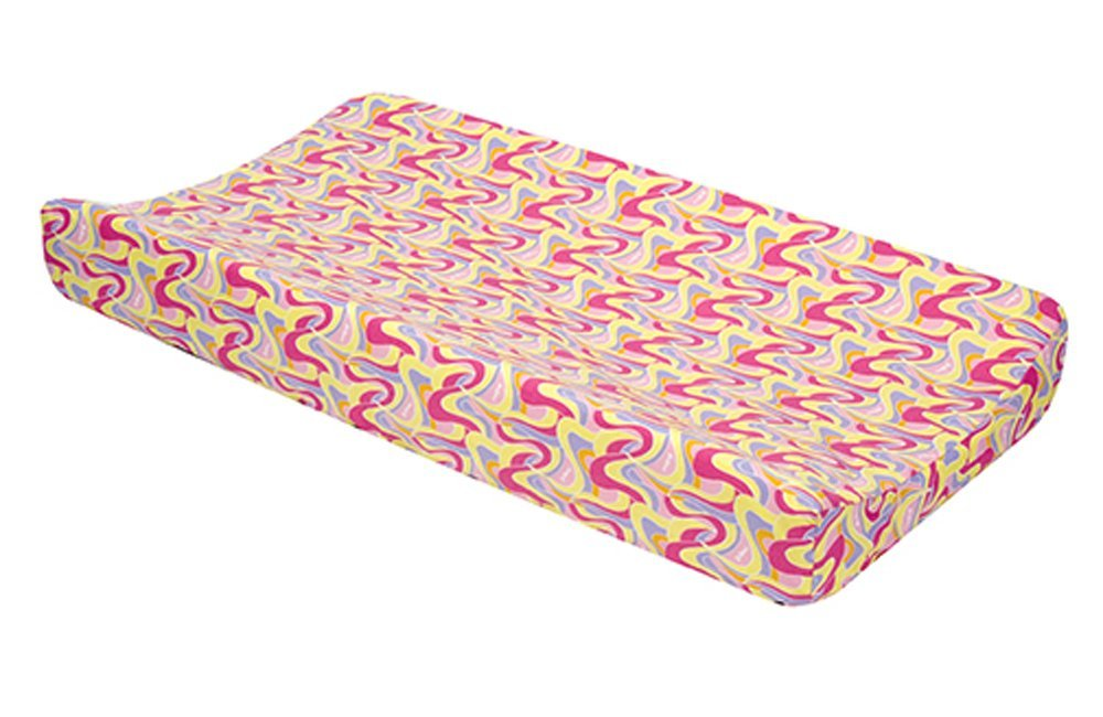 Trend Lab Dr. Seuss Pink Oh The Places You'll Go Infant Nursery Newborn Baby Nappy Diaper Changing Pad Cover