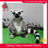 Cute design soft material lifelike wild animal monkey plush toy stuffed Ring-tailed lemur lemur plush toy
