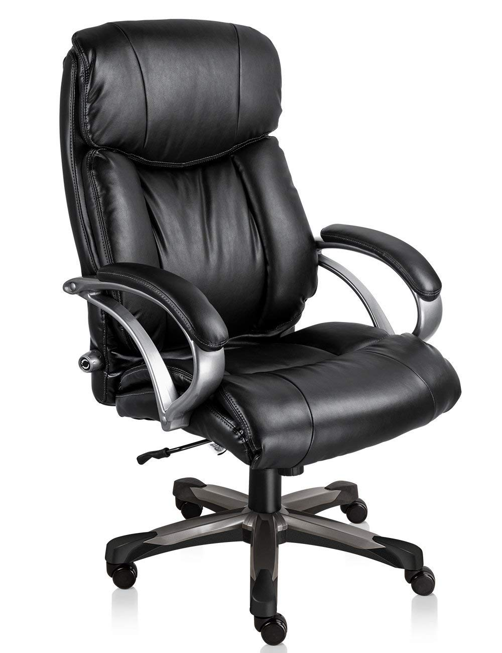 MDL Furniture High Back Executive Office Chair Ergonomic Big and Tall Desk Office Chair with Comfortable Lumbar Support Heavy Duty Home Office Chair(Black)