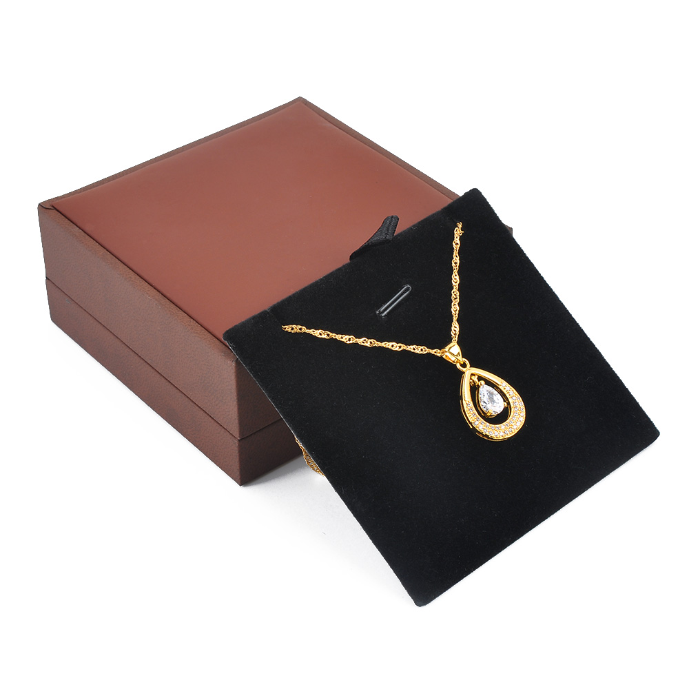 Custom Necklace Display Black Paper Packaging Gift Box Jewelry