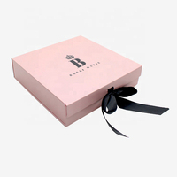 Luxury Custom Logo Clothing Swimwear Dress Pants Wigs Packaging Box Gift Box with Ribbon and Satin for Hair Extensions Products