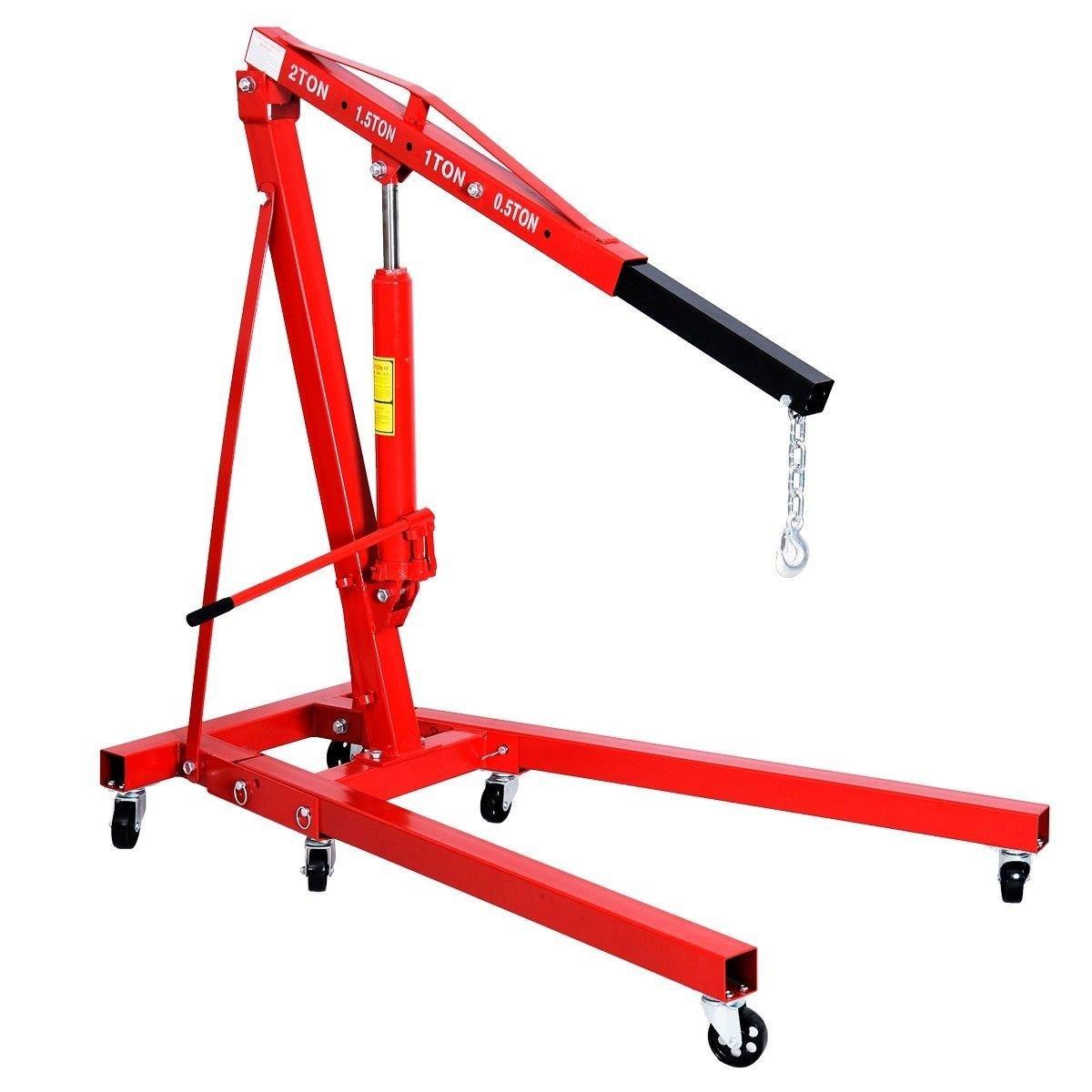 2 TON Red Color Engine Motor Hoist Cherry Picker Shop Crane Lift