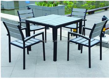 Plastic Wood Furniture In Garden Set Outdoor Dinning