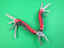 OEM red 440 stainless steel material multifunctional tool pliers