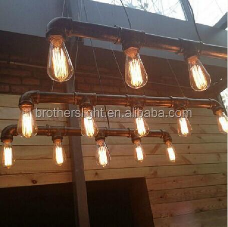 New Industrial Lightning Pipe Edison Bulbs Pendant Light 110-220v ...
