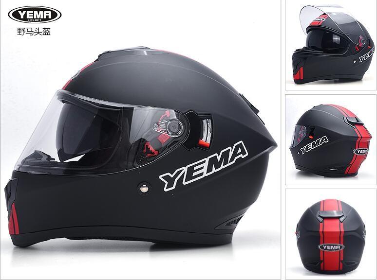 YM-830 DOT approved dual visor motorcycle full helmet vintage motorcycle  helmets for sale