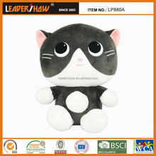 Custom Novelty Plush stuffed Toys Cute Cat Shape Stuffed baby birthday toys kid toys baby kids gifts manufacturer