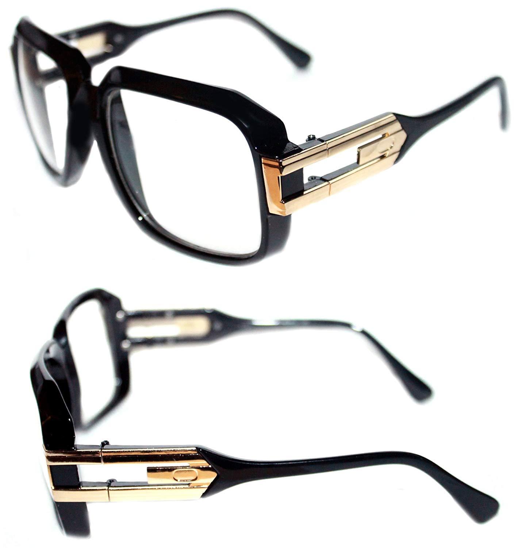 af7582383a0 Get Quotations · Men s Hip Hop GrandMaster Vintage 80s Retro 80 s 623 Clear  Lens Eye Glasses