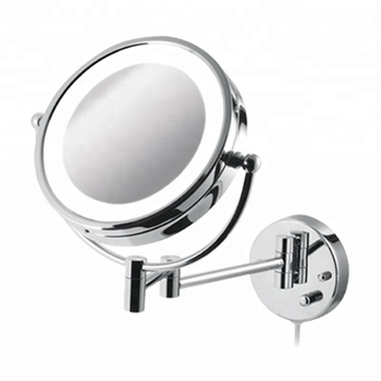 Double Side 8 5 Inch Bathroom Led Light Wall Mounted Swivel Shaving Mirror With Battery