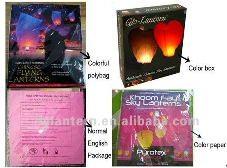 Hot new products for 2015 flying wish ballon fuel cell for sky lantern