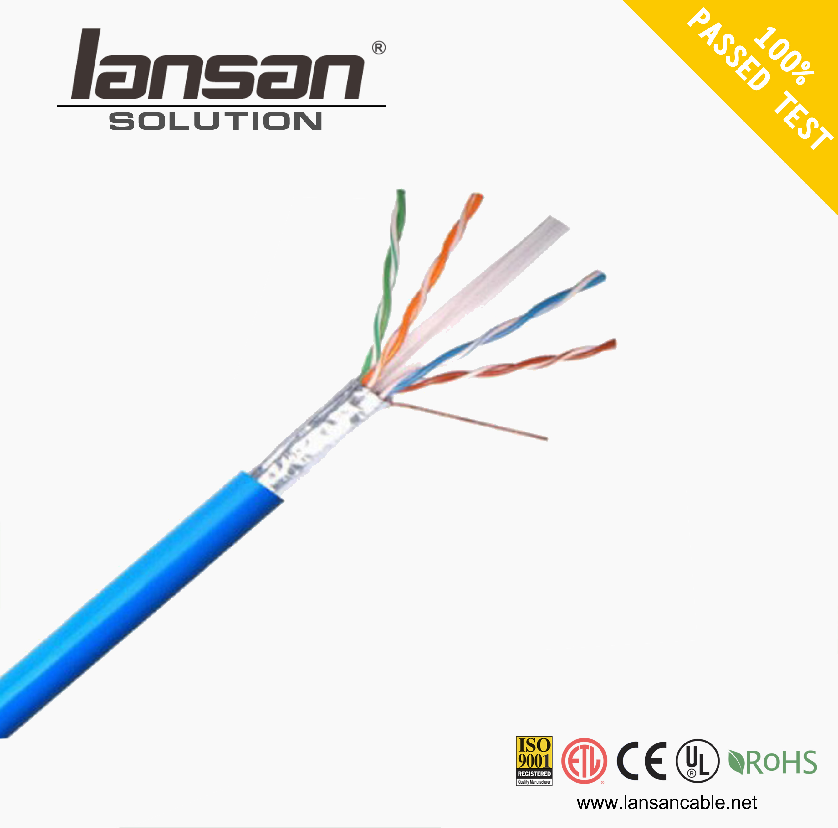 China cheap FFTP cat6a lan cable made in for medical use