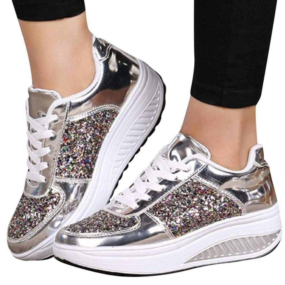 af1fd18a4 Sneakers For Women,Clearance Sale!!Farjing Wedges Sneakers Sequins Shake  Shoes Fashion Girls
