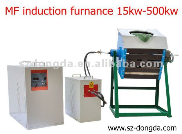 35kw induction melting furnance for melting iron