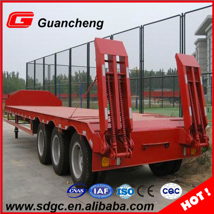 Best Price 40 Container Low Bed Flatbed Semi Trailer With Good Wheel Rims