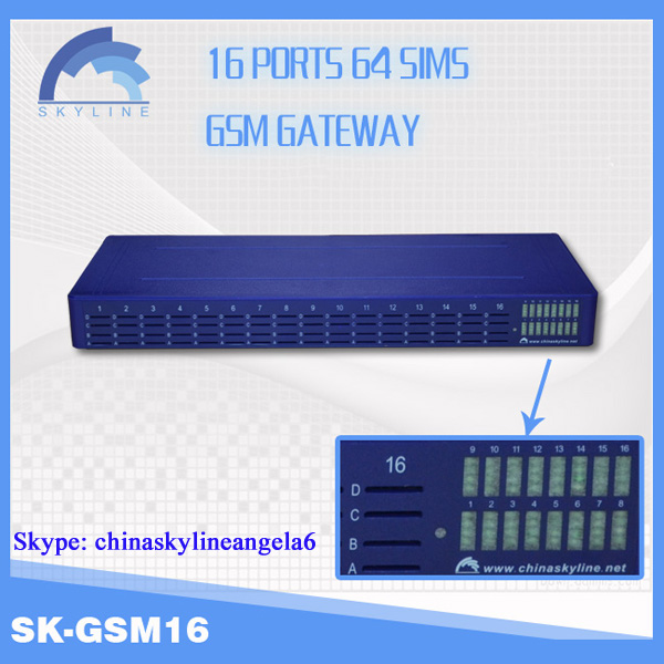 16 channel 64 sims gsm gateway gsm modem sim bank voip traffic provider