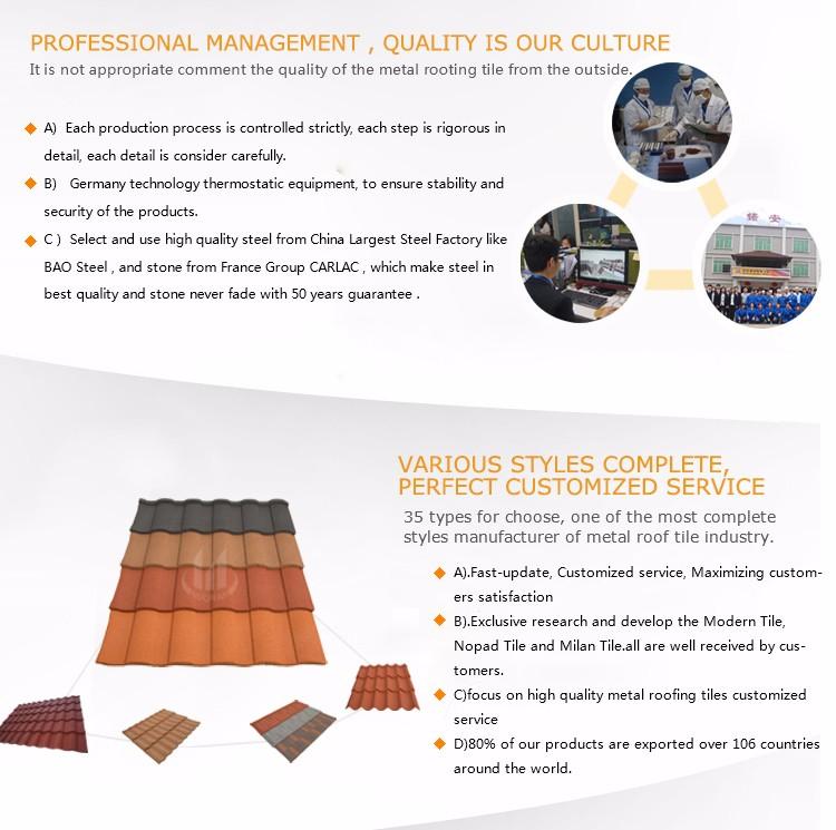 Nuoran usine haute qualit tuiles de toiture pour maisons pas cher plat tuiles prix couleur toit for Prix tuile fond plat