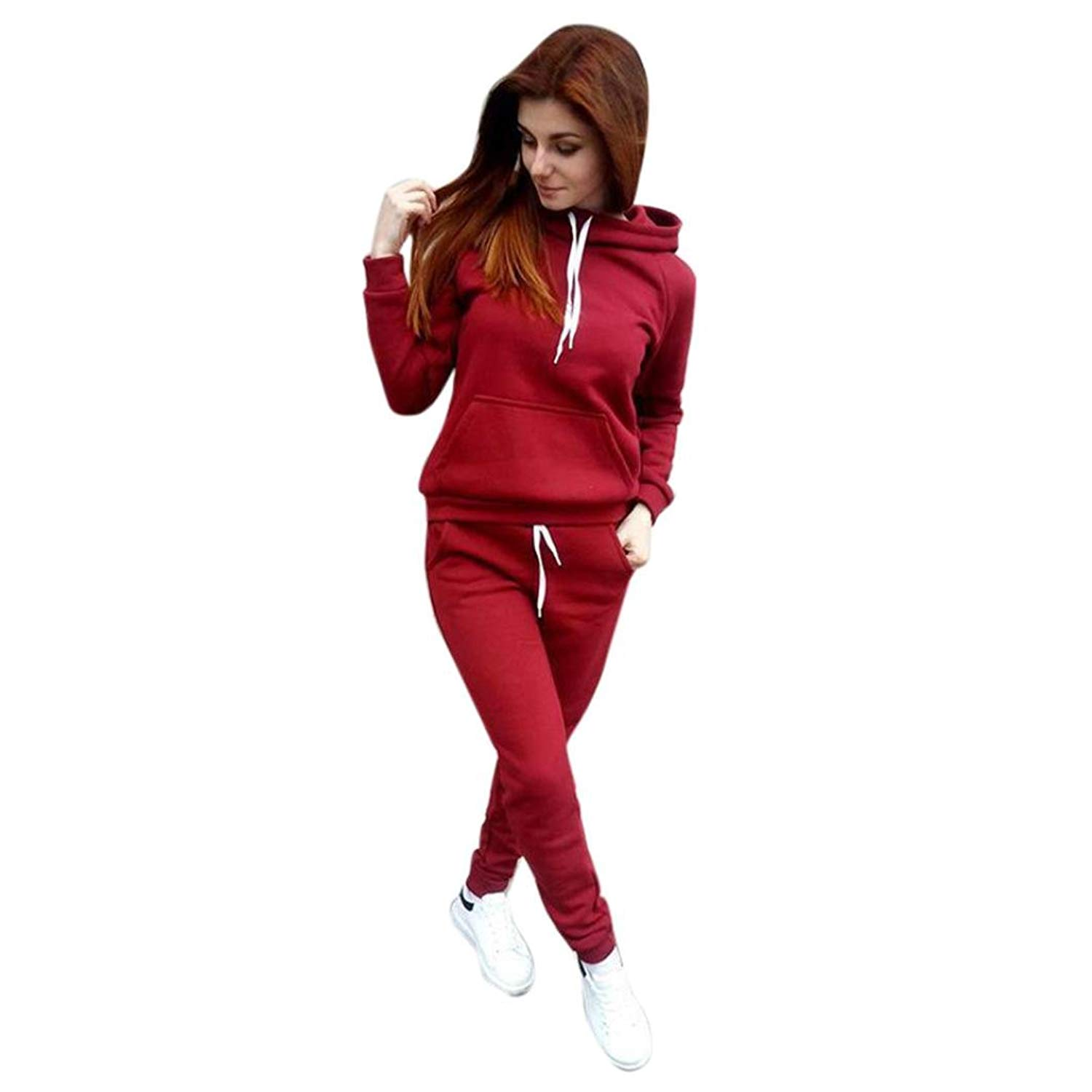 8eaec710fd5064 Get Quotations · Sport Tracksuits Women,NOMENI Women Hoodie Hooded  Sweatshirt and Long Pant Two-Piece Outfit