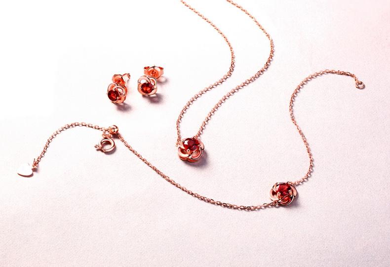 Stud Earrings Rose Earring For Valentines Day Women Earrings