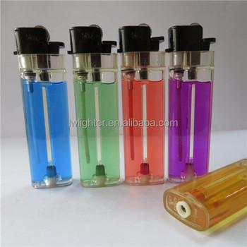 Plastic Flint Cigarette Butane Lighters With Refill Valve