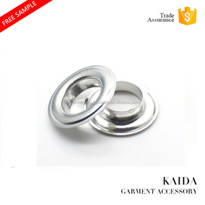KAIDA wholesale custom factory high quality fancy shoe round stainless steel curtain metal grommets eyelet
