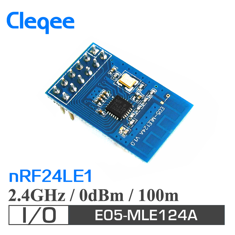 Cleqee E05-MLE124A 1mW 100m SPI nRF24LE1 low cost 2.4GHz rf transmitter and receiver module