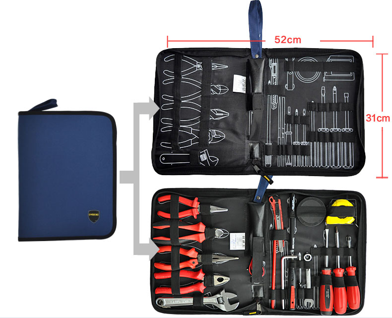 OEM Hot Design electrical maintenance hand tool kit bag for aircraft repairing